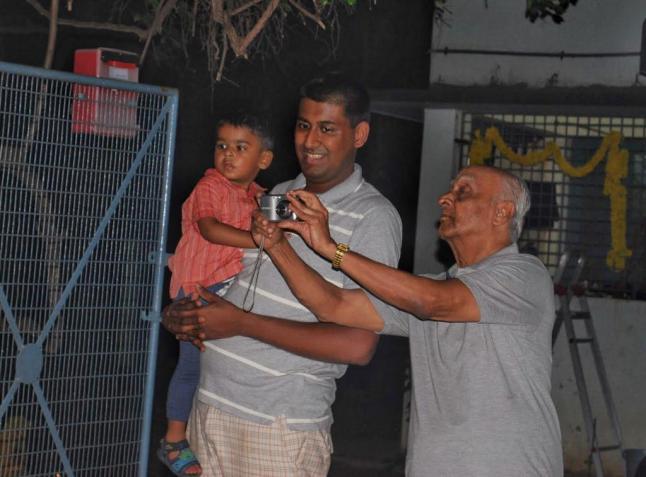 Father (R) & Vijay (L)